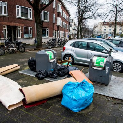 Reduce rubbish bag clutter in Rotterdam
