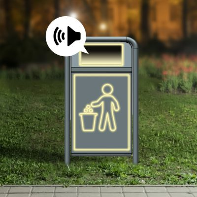 Lighted Litter Bin